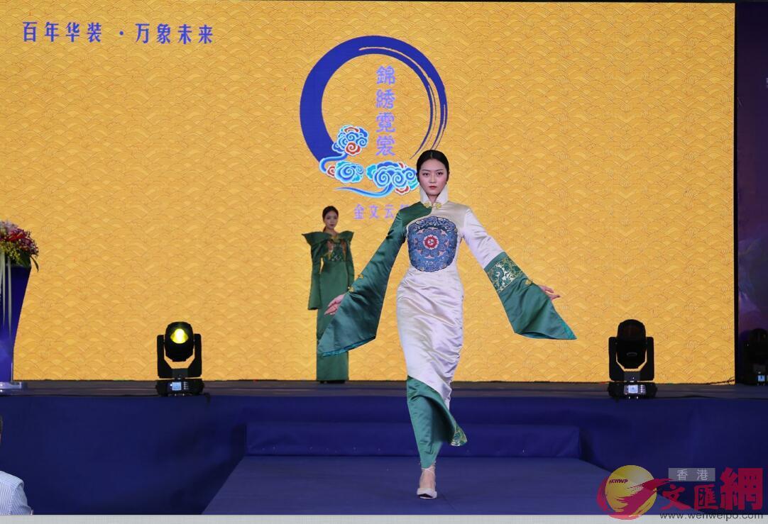 旗袍秀 記者石華攝