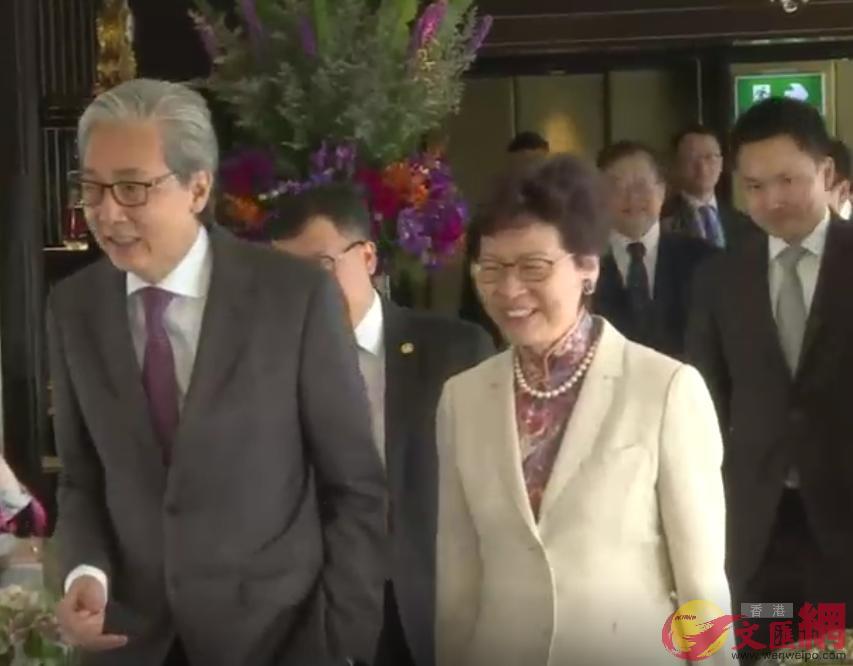 林鄭出席泰國副總理頌吉安排的午宴