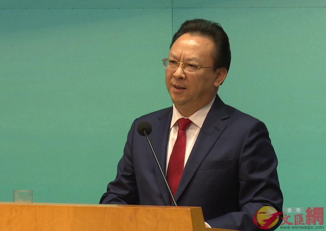 譚鐵牛指出,國家的科技進步和創科戰略為香港創科的發展提供平台、指明方向、創造機遇,希望香港科技界抓住機會(全媒體記者易秉權攝)