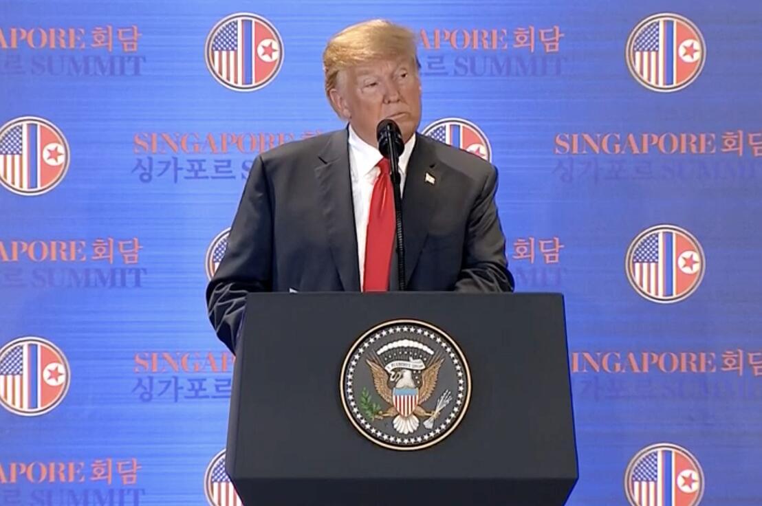 特朗普表示,美國毋需承擔朝鮮無核化的費用(電視截圖)