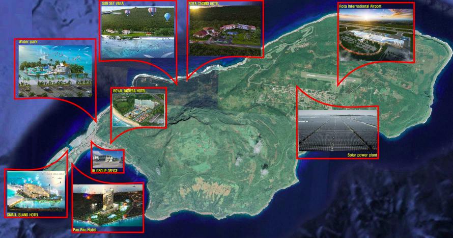 羅塔島投資分佈圖