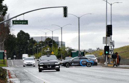 百度Apollo無人車在美國加州進行公開道路測試 圖片來源:網絡