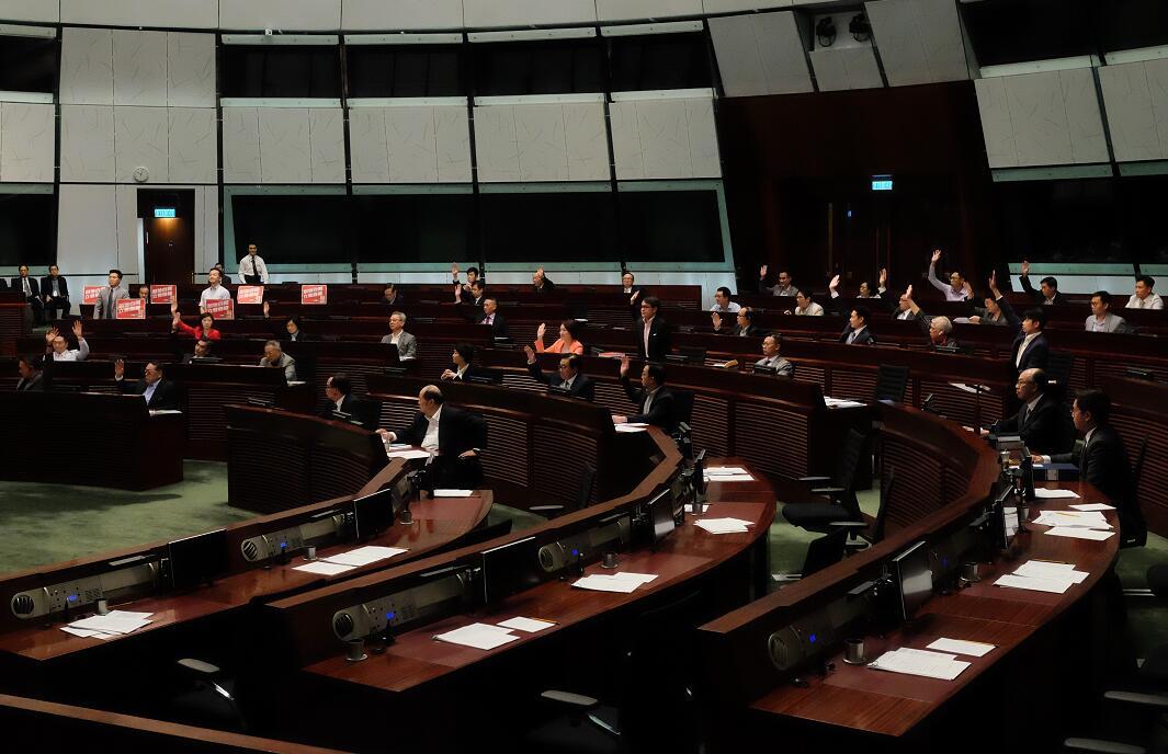 香港立法會全體委員會三讀審議《廣深港高鐵(一地兩檢)條例草案》(大公文匯全媒體記者麥鈞傑 攝)