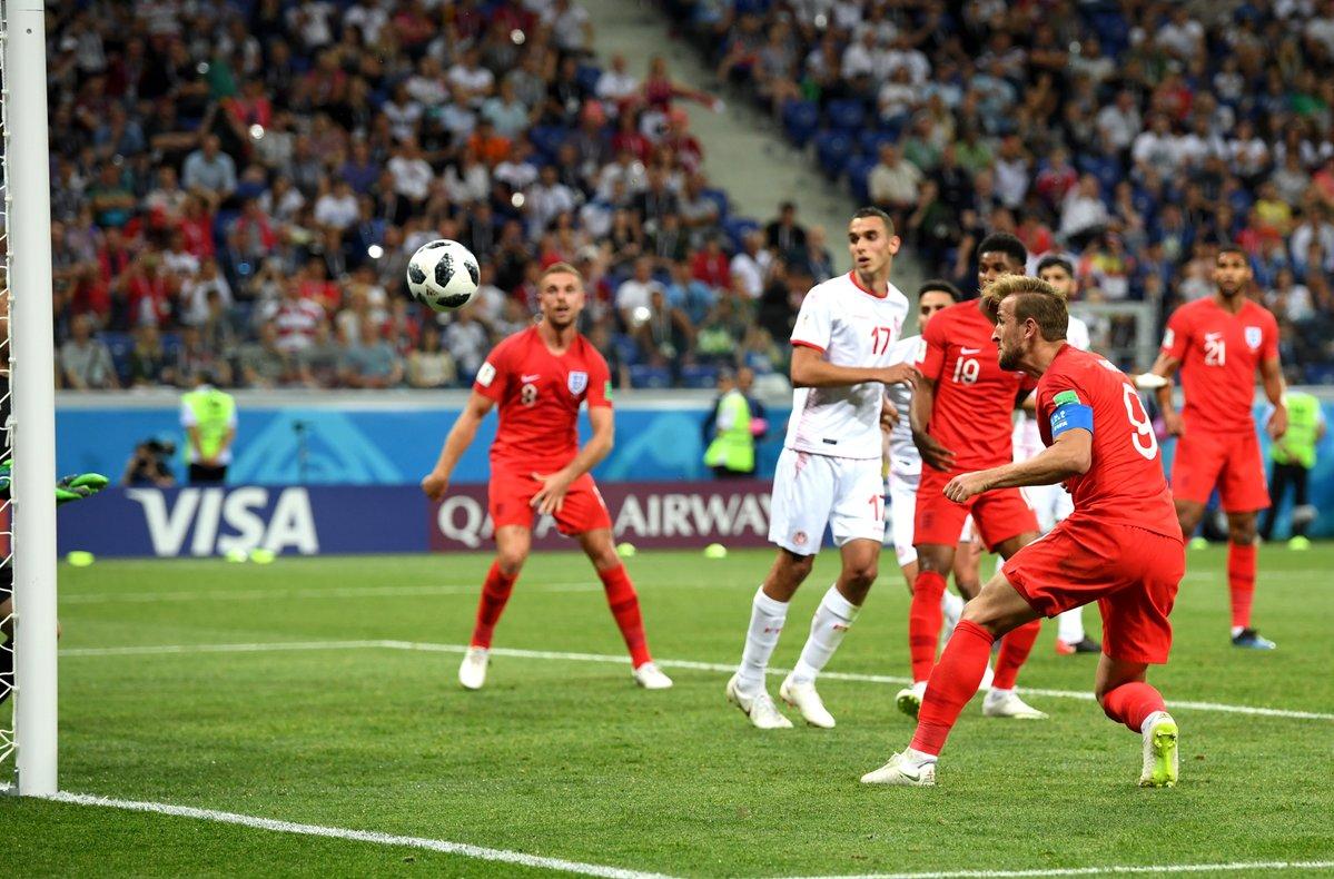 北京時間6月19日凌晨,俄羅斯世界盃小組賽G組突尼斯與英格蘭的較量在伏爾加格勒打響。哈里·凱恩梅開二度,證明了自己英格蘭射手王的身份。