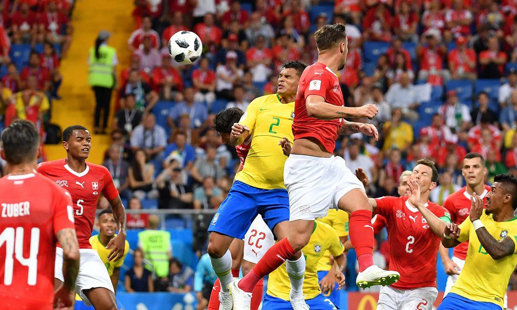 17日,瑞士和巴西在頓河畔羅斯托夫戰成1:1平。