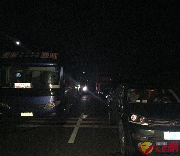 事故導致京港澳高速湖南衡東段路段大堵車