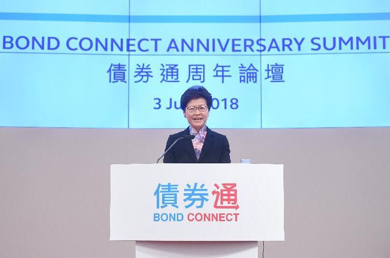 林鄭月娥出席債券通周年論壇