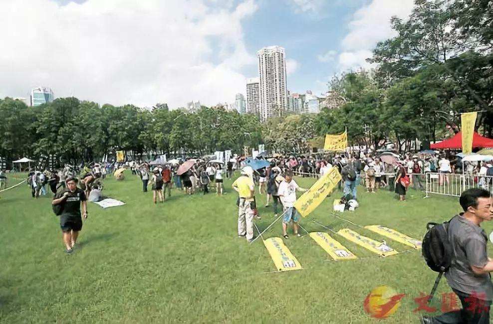 (圖為今年遊行現場,圖片來自香港文匯報)
