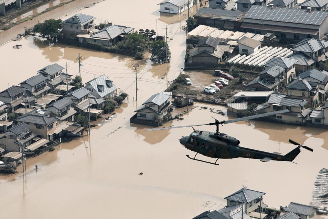 岡山縣是此次受災最嚴重的地區(路透社)