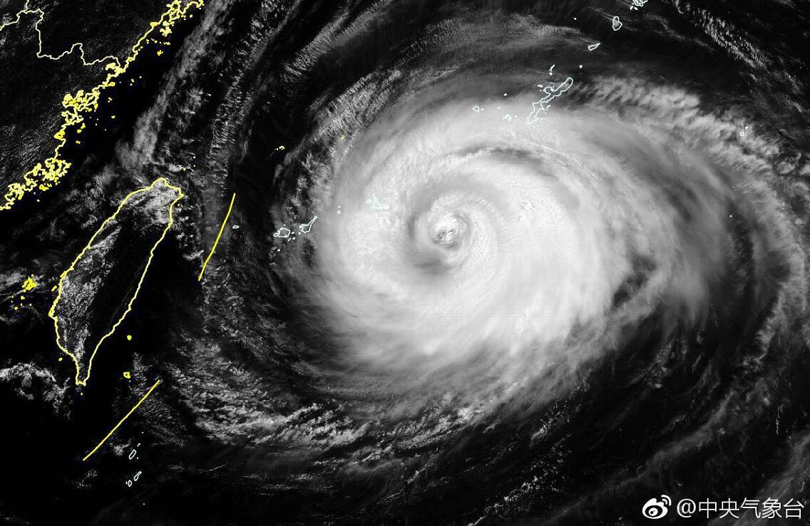 中央氣象台發布的氣象衛星雲圖
