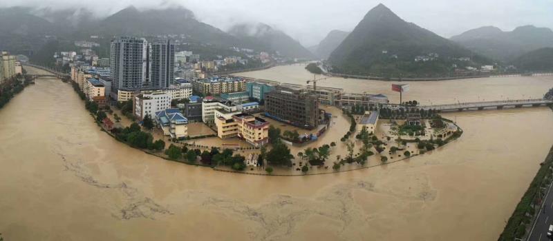廣元市受強降雨影響較大