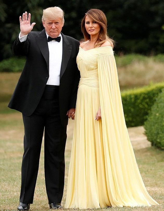 特朗普伉儷盛裝出席歡迎晚宴(路透社)
