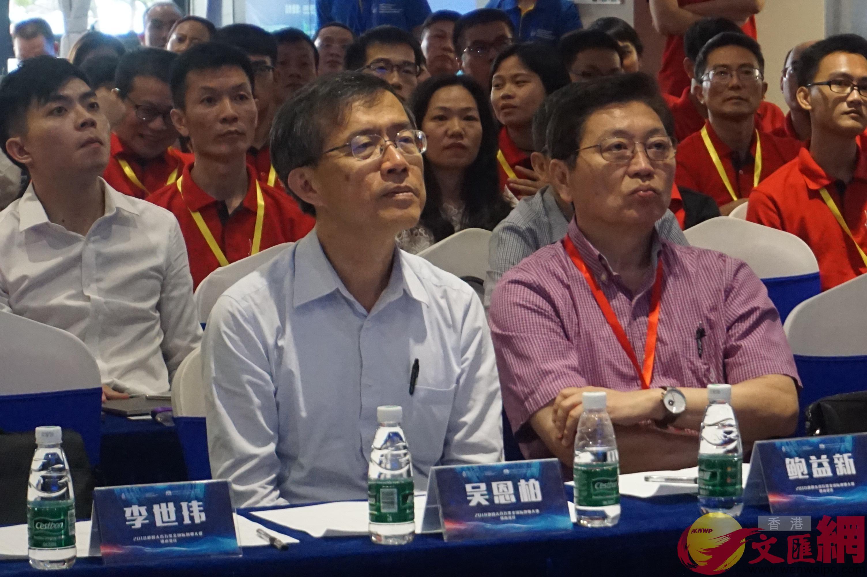 香港科技大學副校長吳恩柏在評審現場。(敖敏輝 攝)