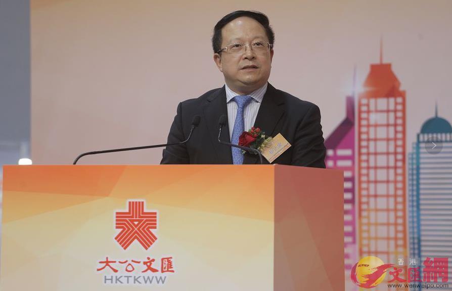 李大宏表示,香港與內地的合作將進入3.0時代。(全媒體記者麥鈞傑攝)