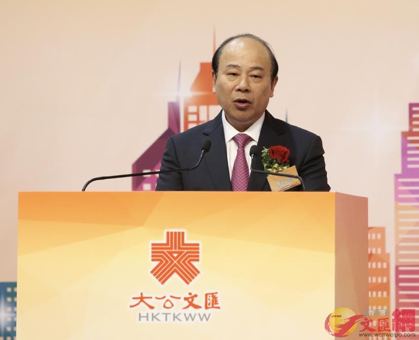 龔俊龍表示粵港澳大灣區對有志創業的香港青年人來說,是一個絕佳的發展機遇。(圖:全媒體記者麥鈞傑攝)