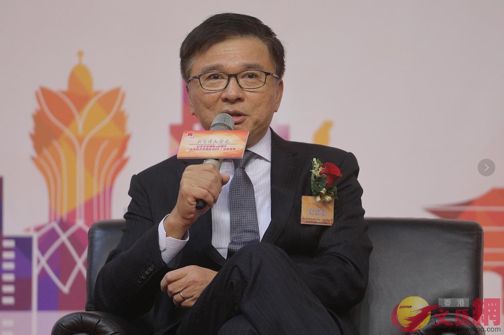 原財經事務及庫務局長、香港科技大學商學院兼任教授陳家強(全媒體記者麥鈞傑攝)