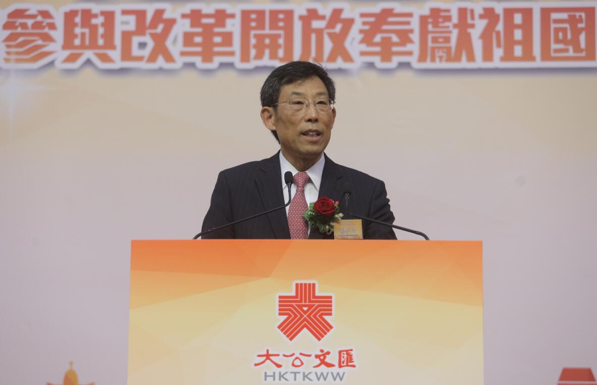 姜在忠表示,「一國兩制」獨特優勢將令香港繼續扮演祖國與世界的「超級聯繫人」角色(全媒體記者麥鈞傑攝)