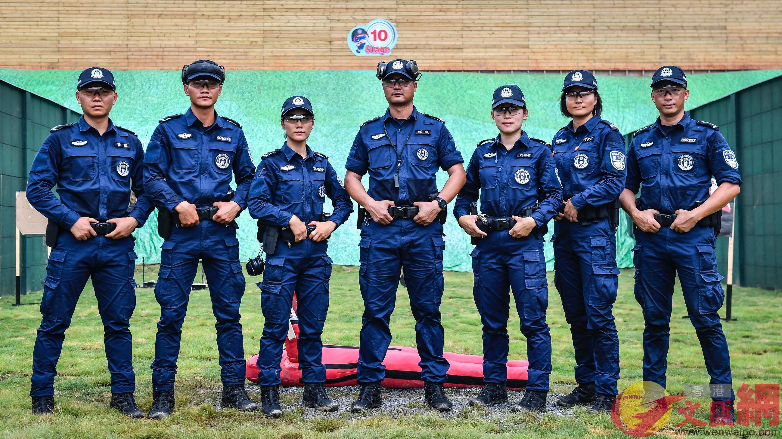 包括港澳在內的全國各地警方共38支代表隊參賽。(記者方俊明 攝)