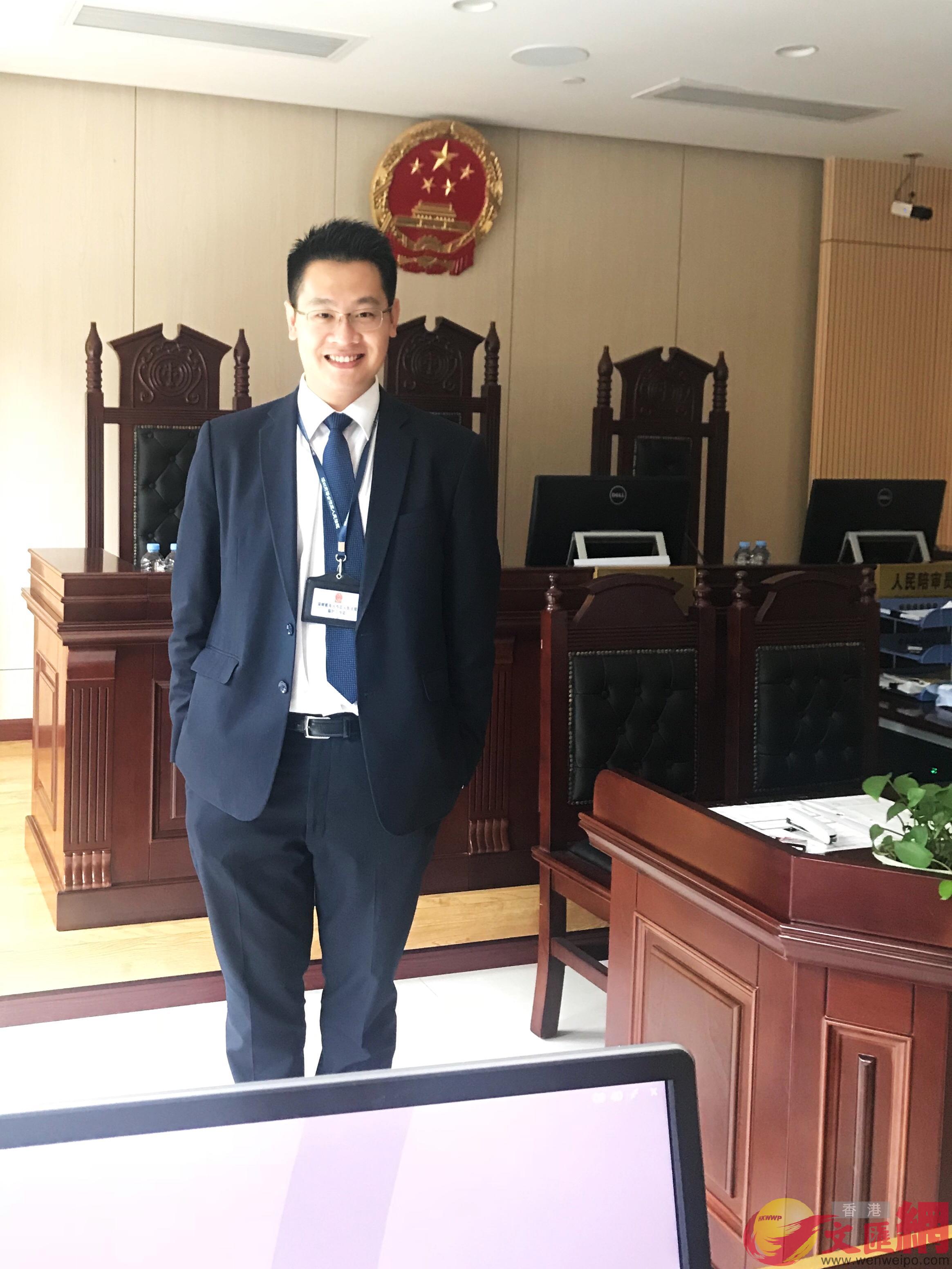 港青范家珩表示,「取消就業許可」有助港青到內地發展.