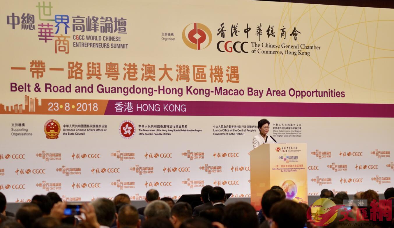 林鄭:大灣區為香港經濟產業注入新動能