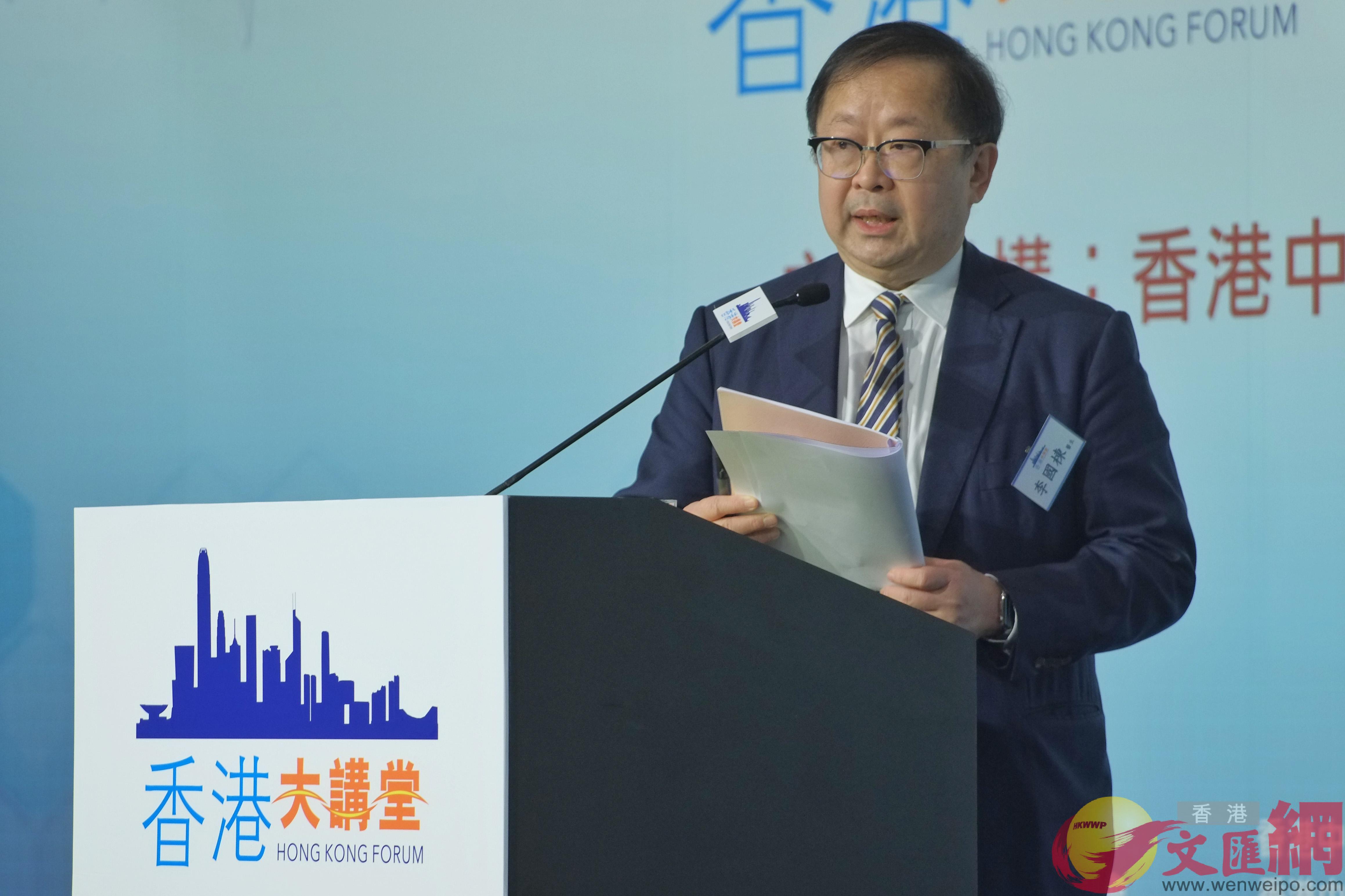 李國棟表示大灣區醫療合作能夠為香港和內地醫護人員帶來更多合作機會