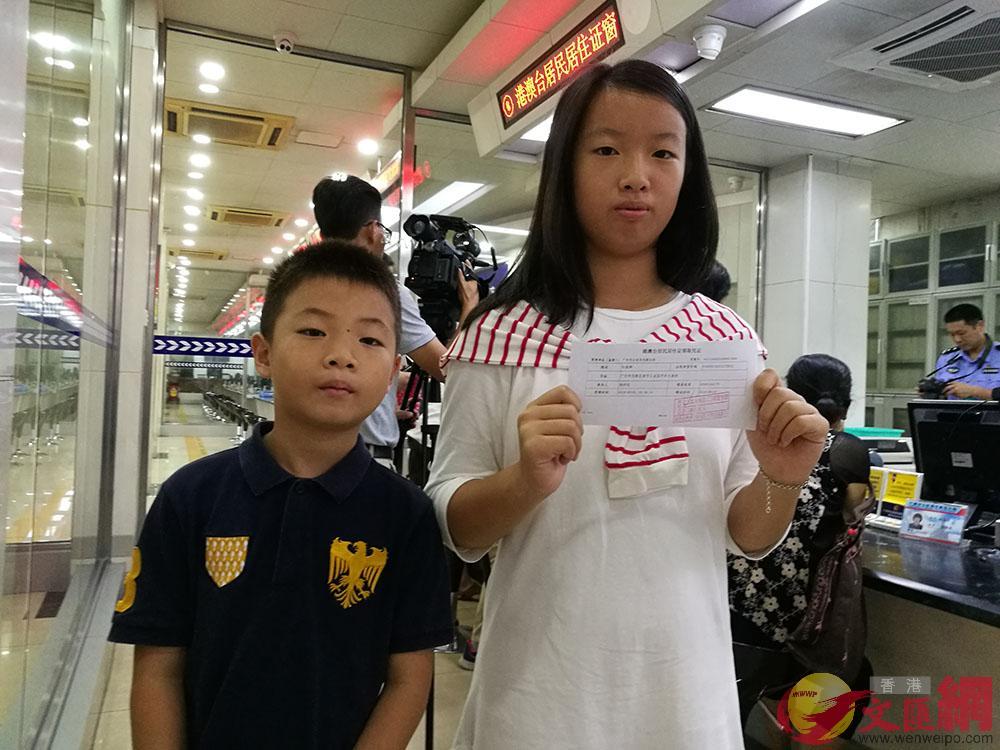 蘇一舫透露,孩子辦理了居住證將便利入學省下不少麻煩。記者 胡若璋攝