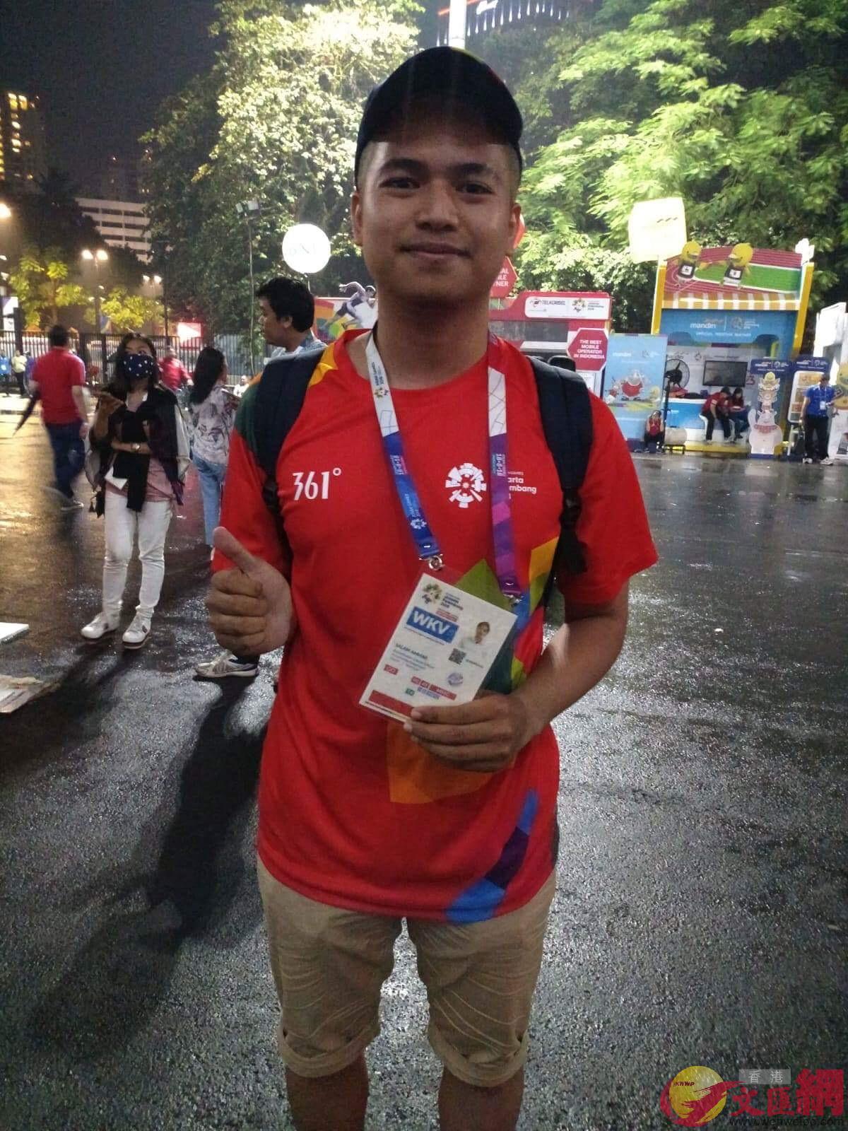 志願者Salam Ammar (大公文匯全媒體記者張銳 攝)