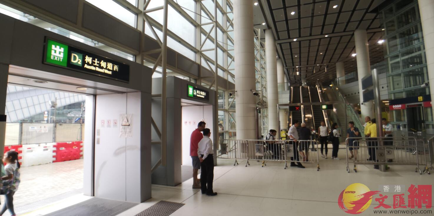 連接高鐵西九龍站的西鐵柯士甸站D2出口。