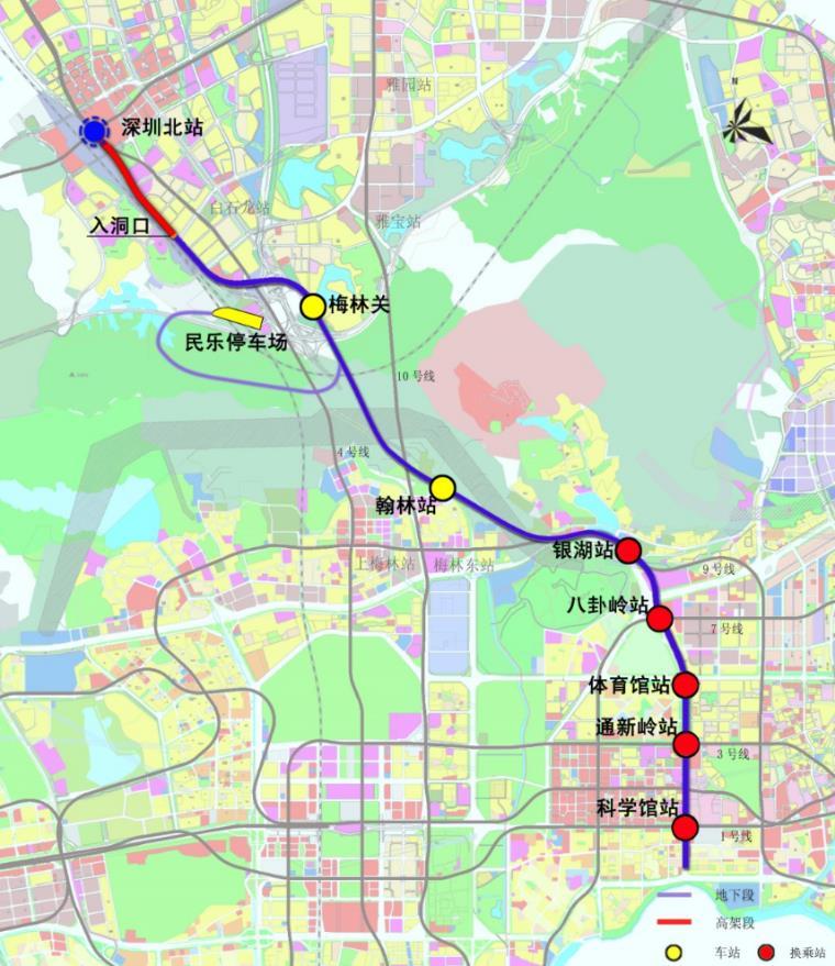 深圳地鐵6號線線路圖