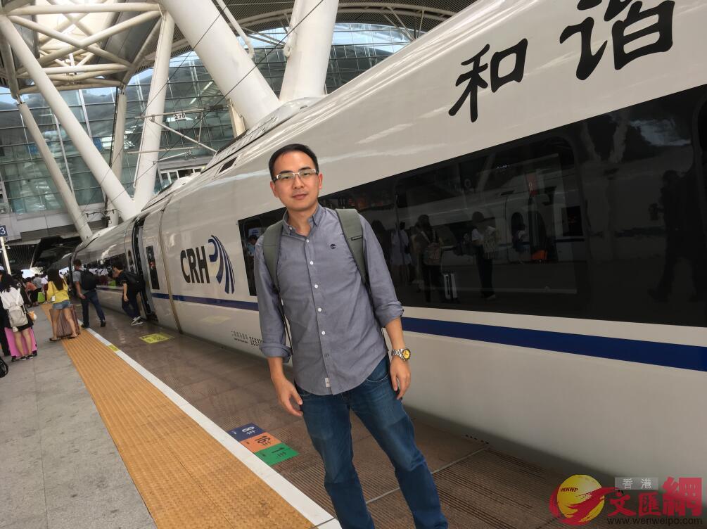 港人葉興華建議推出廣深港高鐵月票(記者敖敏輝攝)