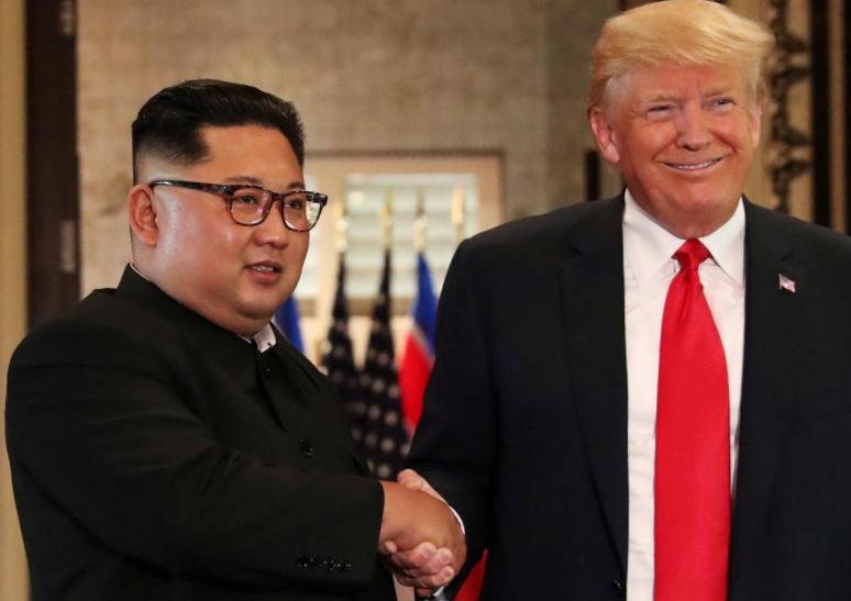 美國總統特朗普和朝鮮最高領導人金正恩 路透社資料圖