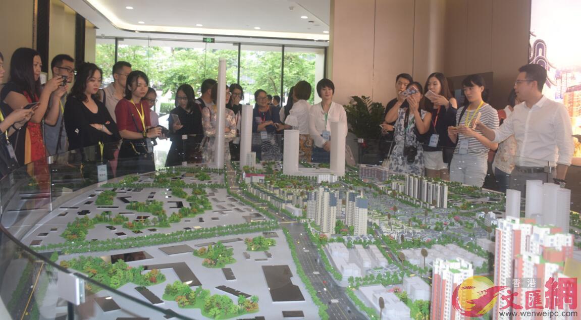 廣東未來將增進大灣區民生福祉。圖為港澳投資者在考察廣東項目。(記者盧靜怡 攝)