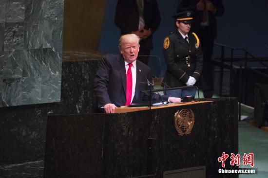 當地時間9月25日,第73屆聯合國大會一般性辯論在紐約聯合國總部開幕。美國總統特朗普在會上發言。
