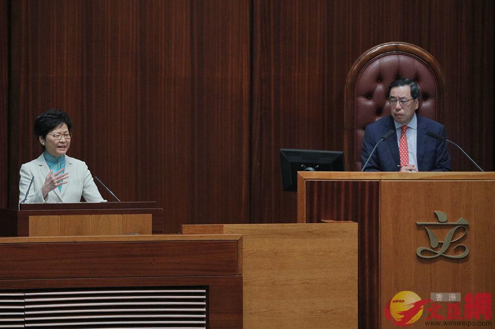 圖/林鄭(左)表示,如美國政策影響香港,港府會據理力爭(全媒體記者麥鈞傑攝)