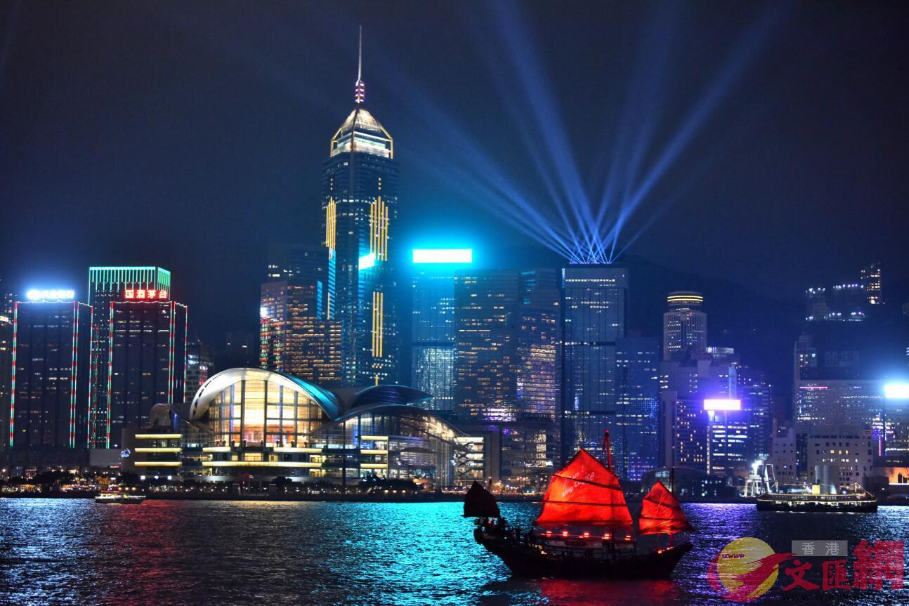 璀璨維港夜景。資料圖片