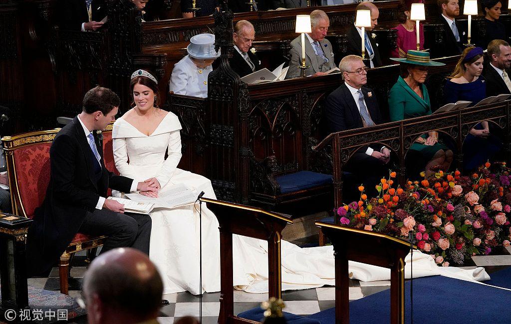 12日,英国尤金妮公主婚礼举行。視覺中國