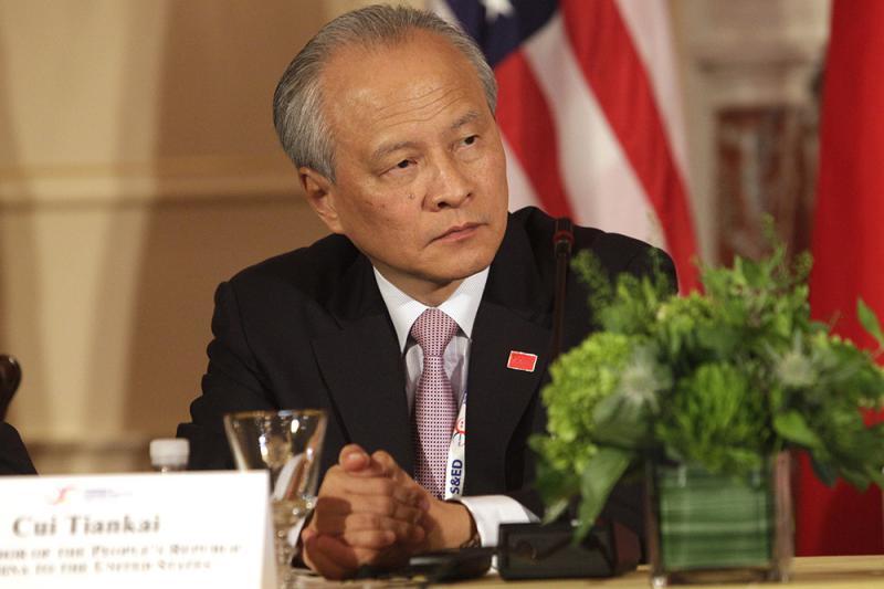 圖:中國駐美大使崔天凱 /資料圖片