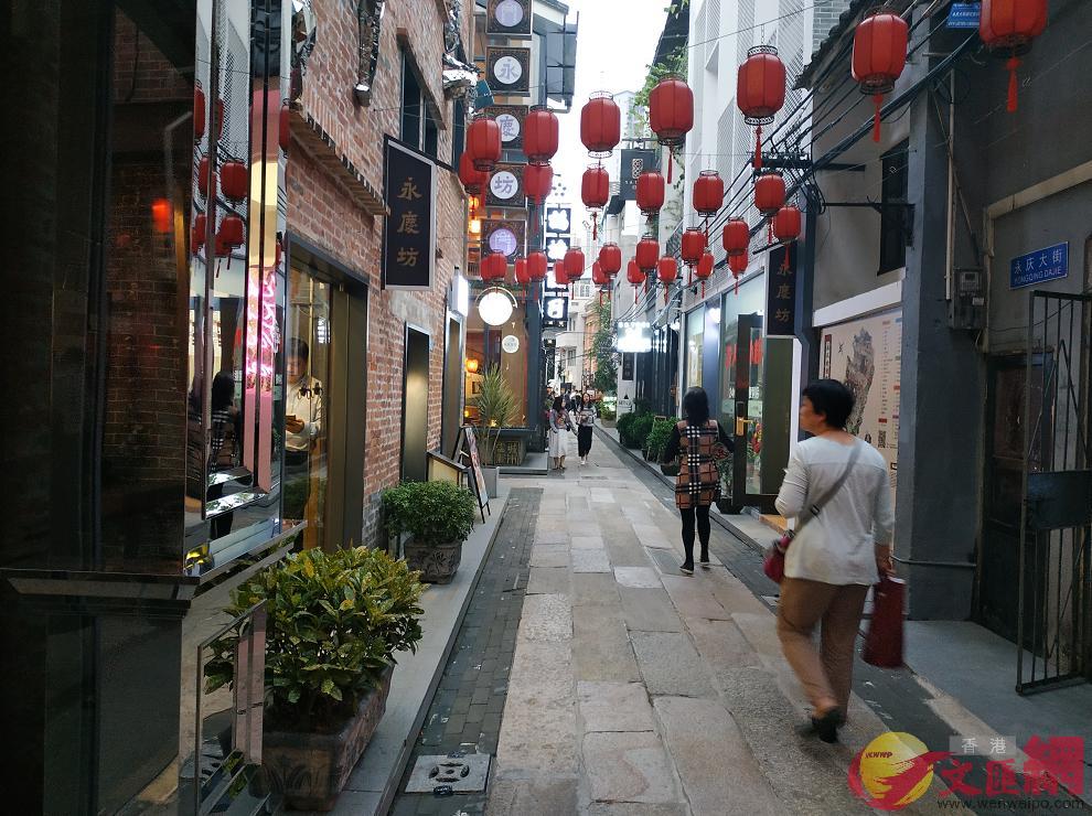 習近平24日下午到訪荔灣區永慶坊。圖為永慶坊街道。(盧靜怡攝)