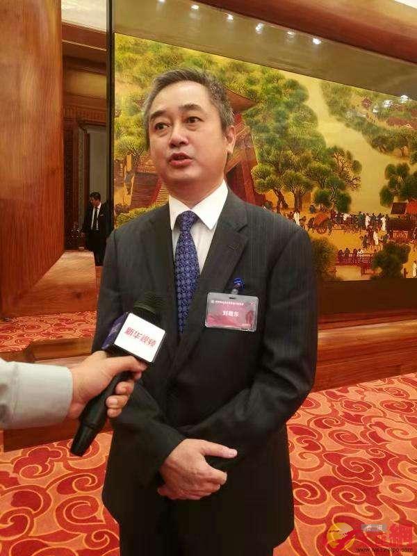 香港商報執行總編輯劉曉東。記者張帥攝