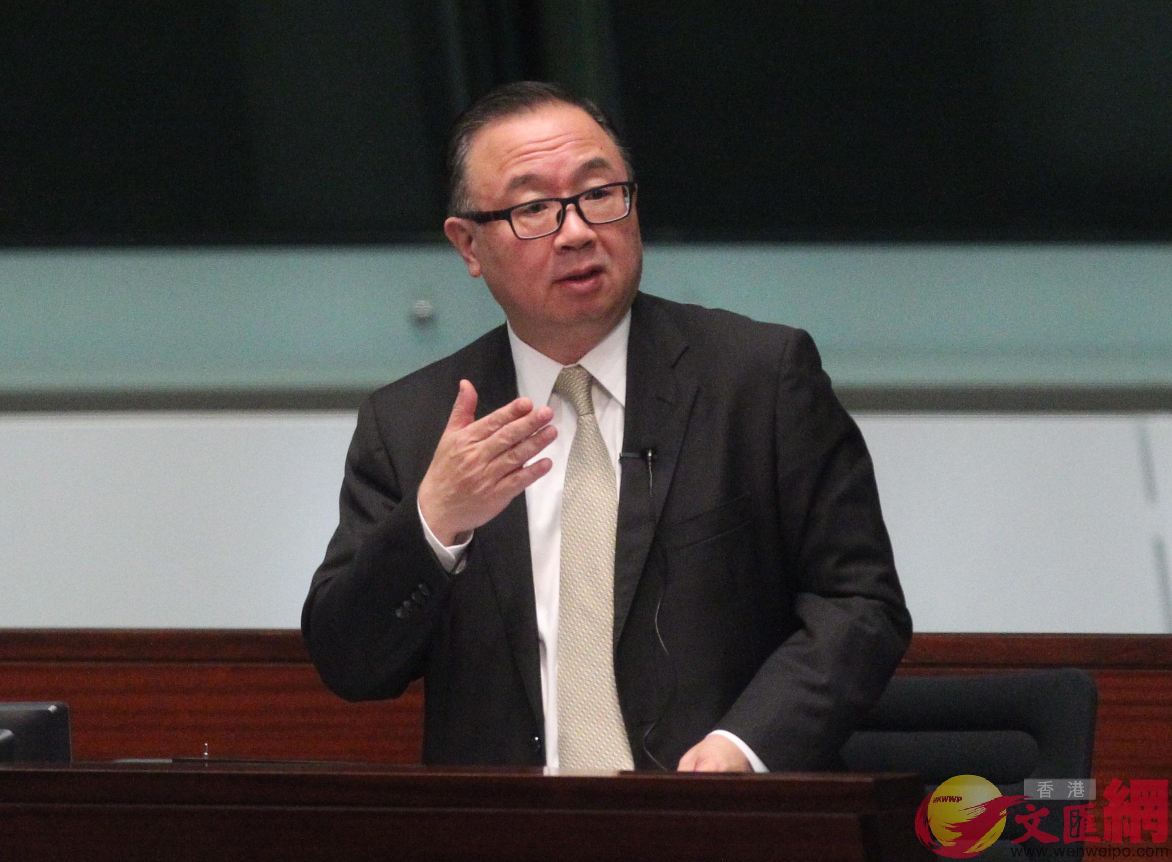 廖長江表示,「明日大嶼」將為香港再上台階打好基礎。