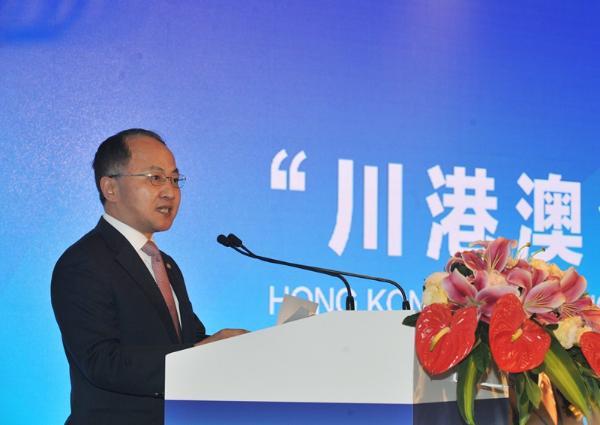王志民主任在論壇上致辭。(圖片來源:中央政府駐港聯絡辦)