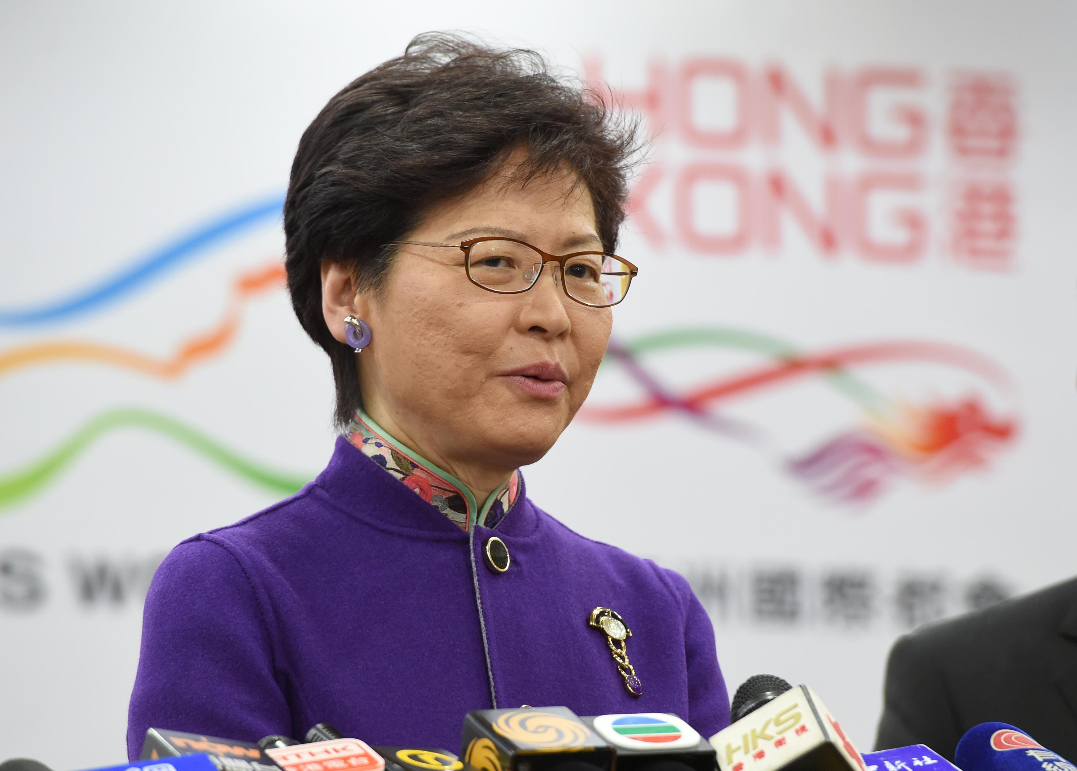林鄭月娥期望香港與內地在大灣區合作中雙贏(中新社資料圖)