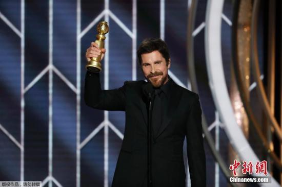 第76屆美國電影電視金球獎頒獎禮在洛杉磯舉行。金球獎音樂喜劇類電影最佳男主角克裡斯蒂安·貝爾(《副總統》) 。