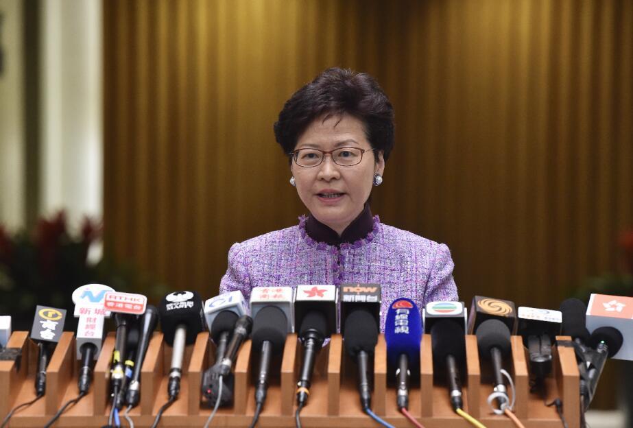 林鄭表示,調高長者綜援合資格年齡是反映社會現實。圖片來源:香港中通社