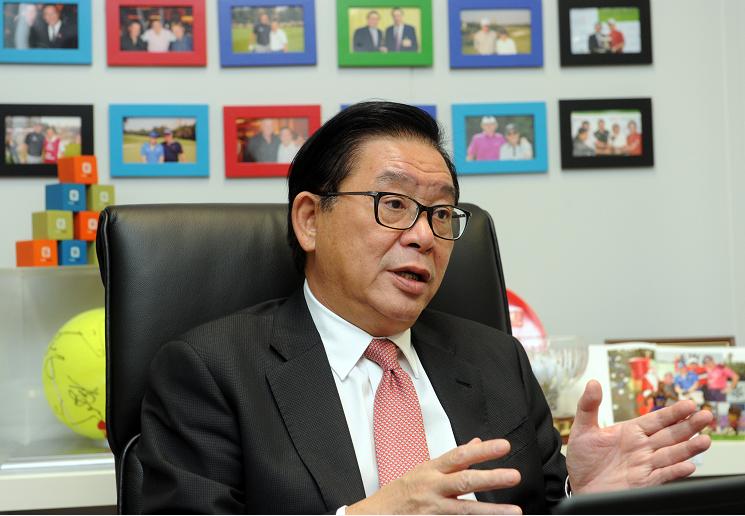 林健鋒表示,反對《國歌法》立法的人心中有鬼(中新社)