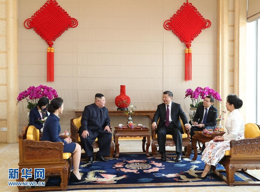 1月8日,中共中央總書記、國家主席習近平同當日抵京的朝鮮勞動黨委員長、國務委員會委員長金正恩舉行會談。這是1月9日,習近平在北京飯店會見金正恩。