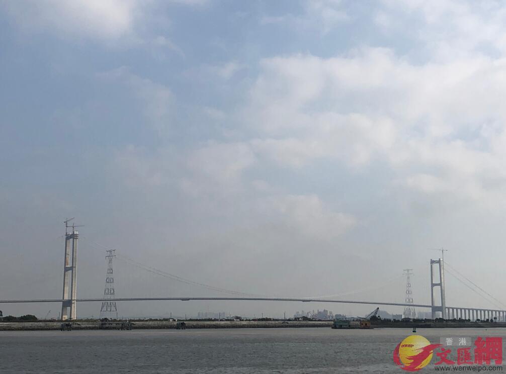 作為大灣區重要過江通道,虎門二橋預計今年5月建成通車(方俊明 攝)