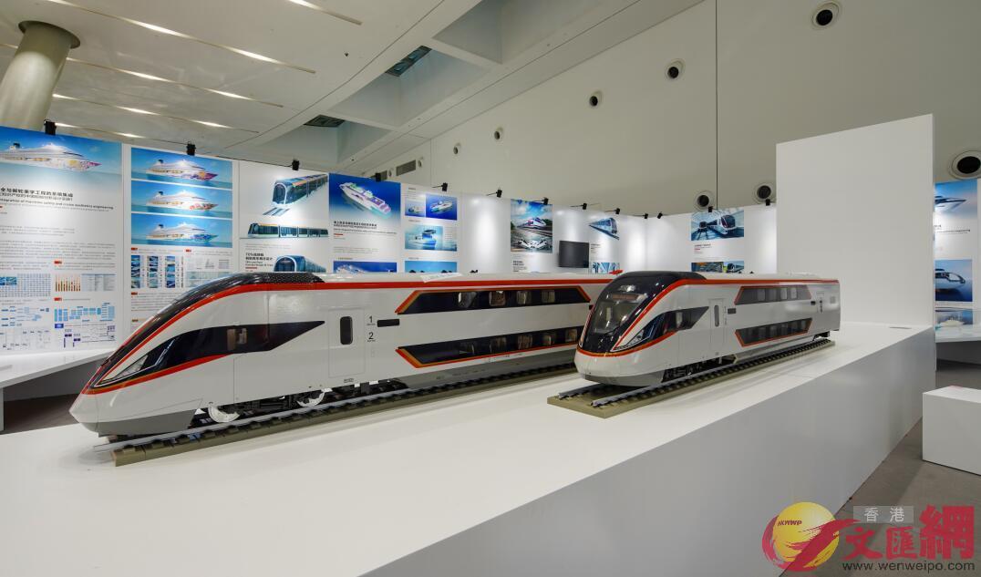 圖為中國最新式高鐵的設計模型。記者毛麗娟 攝