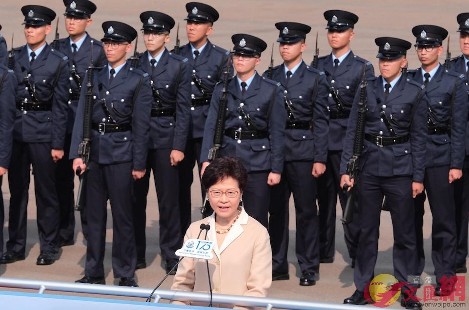 林鄭月娥在開幕禮致辭