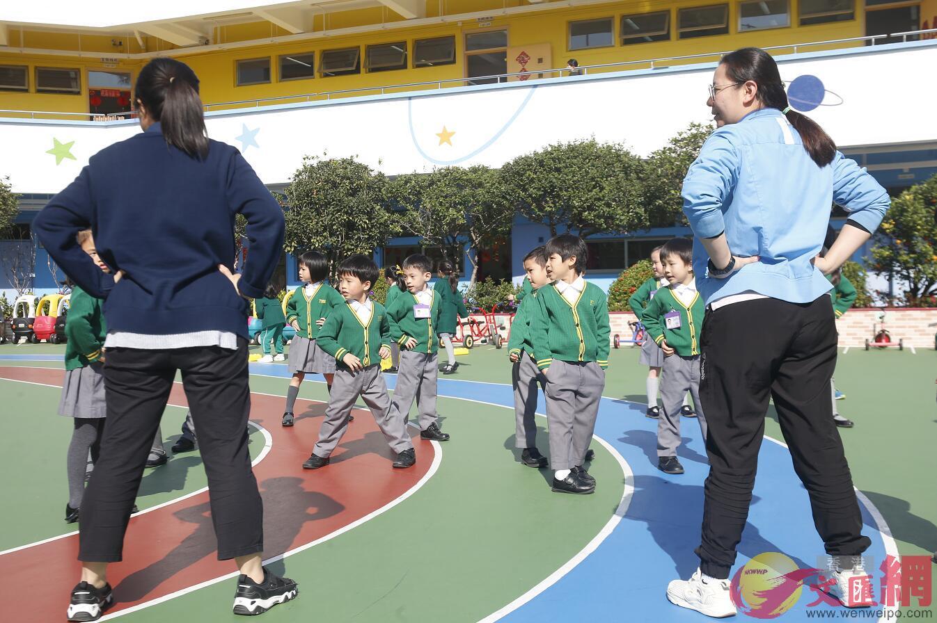 陳肇始表示,流感有持續回落趨勢,幼稚園復課後會密切監察。圖為香港又一村學校(文匯報資料圖片)